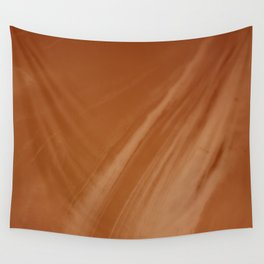 Blurred Sepia Wave Trajectory Wall Tapestry