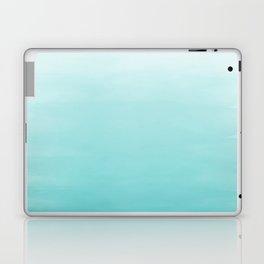 Modern teal watercolor gradient ombre brushstrokes pattern Laptop & iPad Skin