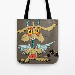 Evil Flying Feline Jackalope  Tote Bag