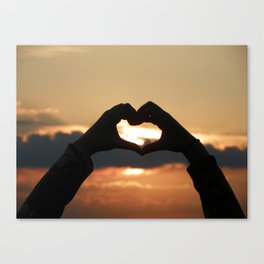 Heart at Sunset Canvas Print