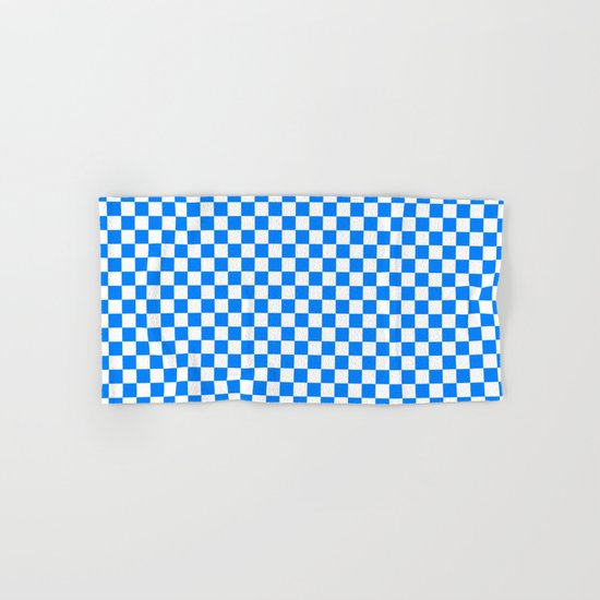 Checker (Azure/White) Hand & Bath Towel