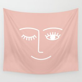 Wink / Pink Wall Tapestry
