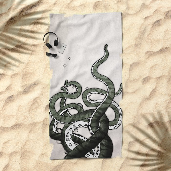 Octopus Tentacles Beach Towel