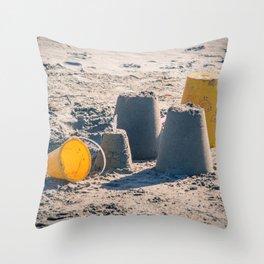 Sand Castle Throw Pillow