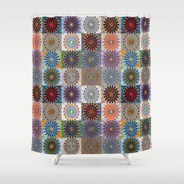 Invigorating Emergence Collection Shower Curtain