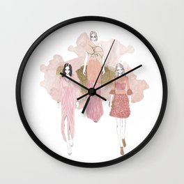 Pink and Gold Wall Clock