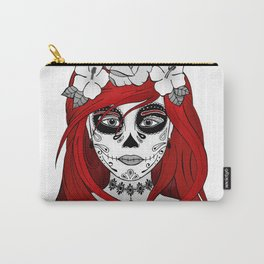 Santa Muerte Red Carry-All Pouch