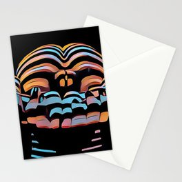 1333s-MAK Abstract Rearview Butt Up Pants Down Fingers in Front Stationery Cards