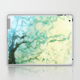 Abstract modern teal brown marble tree pattern Laptop & iPad Skin