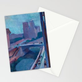 A GLIMPSE OF NOTRE DAME IN LATE AFTERNOON - HENRI MATISSE Stationery Cards