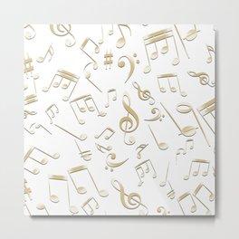 Musical Notes 12 Metal Print