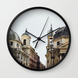 Piazza Del Popolo Rome Wall Clock