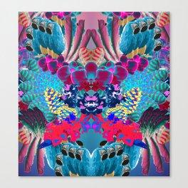 Psicodelic tropical kaleidoscope Canvas Print