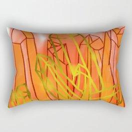 Crystals - Orange Rectangular Pillow