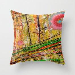 Action Landscape Throw Pillow