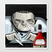 silence of the lambs Canvas Prints featuring Silence of the Lambs' Hannibal Lecter by AdamAddams