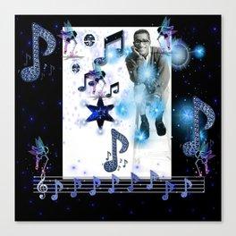 Musical Sparkle - Sammy Davis Jr. Canvas Print