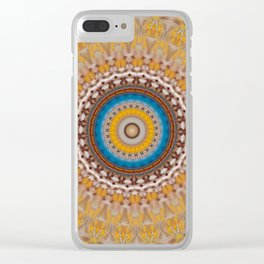 New Color Pyramidal Mandala 51 Clear iPhone Case
