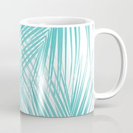 Soft Turquoise Palm Leaves Dream - Cali Summer Vibes #3 #tropical #decor #art Coffee Mug