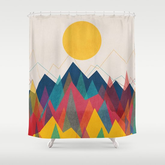 Uphill Battle Shower Curtain