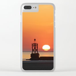 Sinking into the sea Clear iPhone Case