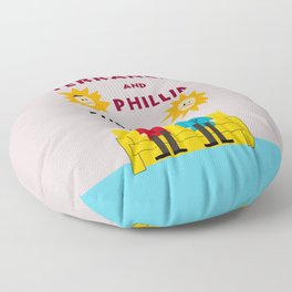The Terrance and Phillip Show Poster Floor Pillow