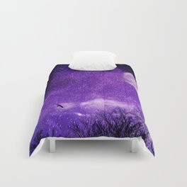 Nightscape in Ultra Violet Comforters