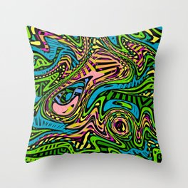 Cartoon Camouflage Abstract Art Pattern Throw Pillow