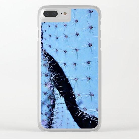 cactus in blue Clear iPhone Case