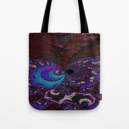 Hoarse Hallow Fractal - Abstract Art Tote Bag