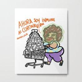 """Ahora Soy Inmune Al Virus """"No Background"""" (virus) Metal Print"""