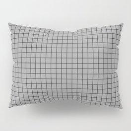 Grey Grid Black Line Pillow Sham