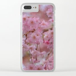 Pink Magnolia Blooming Clear iPhone Case