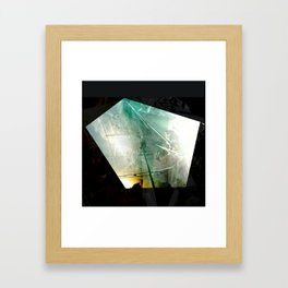 turquoise city Framed Art Print