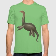 Loch Ness Monster LARGE Grass Mens Fitted Tee