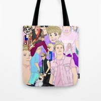 niall Tote Bags featuring Niall Collage by Pinkeyyou