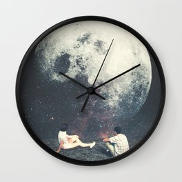 My Moon My Man My Love Wall Clock