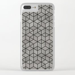 Hexagon concrete cubes Clear iPhone Case