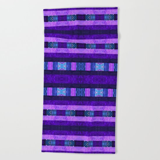 Quilt Top - Deep Purple Beach Towel