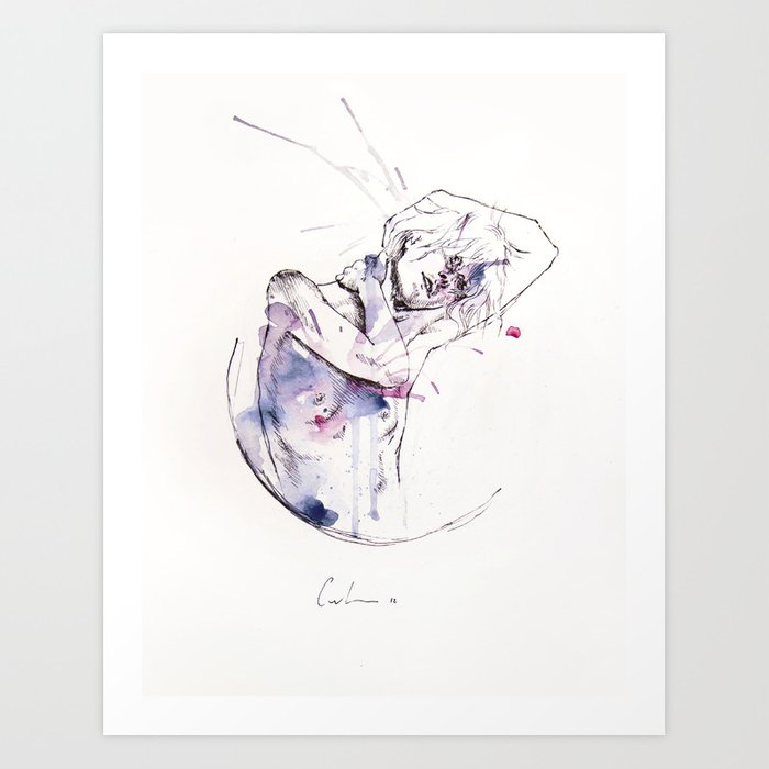 Discover the motif CIRCLES - CON OCCHI PORPORA by Agnes Cecile as a print at TOPPOSTER