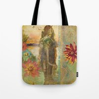 lily Tote Bags featuring Lily by Aimee Stewart