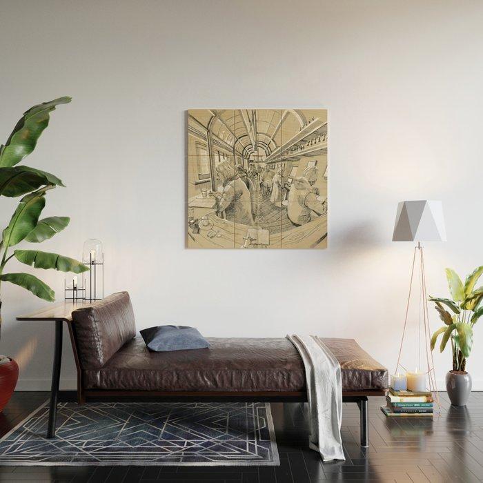 Barbarella Wood Wall Art