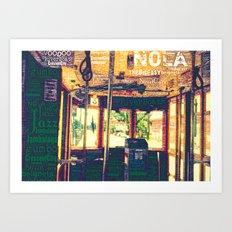 nola street car Art Print