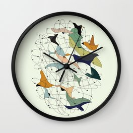 Chained birds Wall Clock