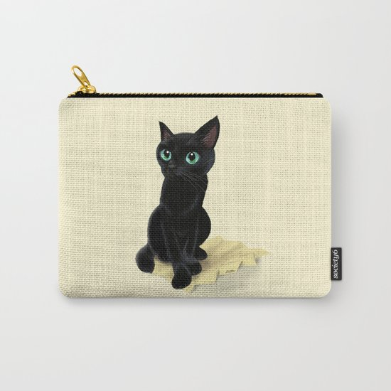 Black little kitty Carry-All Pouch