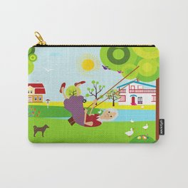 Grandmother swinging  Carry-All Pouch