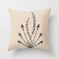 katniss Throw Pillows featuring Katniss Plant by Meghan Hill