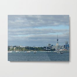 Auckland skyline and Sky Tower (New Zealand Collection) Metal Print