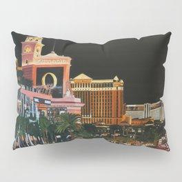 Las Vegas Strip Oil On Canvas Pillow Sham