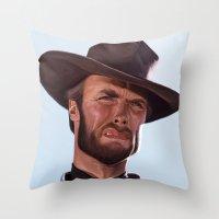 clint barton Throw Pillows featuring Clint by Mark Hammermeister